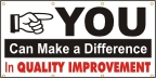 You Can Make A Difference In Quality Improvement Banner