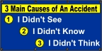 3 Mian Causes of an Accident Banner