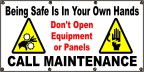 Being Safe In Your Hands - Call Maintenance Banner