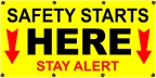 Safety Starts Here Banner