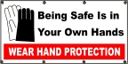 Wear Hand Protection Banner