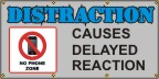 Distraction Causes Delayed Reaction