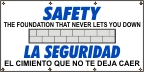 Spanish - Safety, The  Foundation That Never Lets You Down Banner