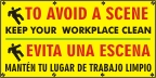 To Avoid a Scene, Keep Your Workplace Clean Banner