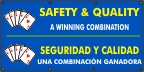 Spanish - Safety & Quality a Winning Combination Banner