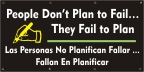 Spanish - People Don't Plan To Fail Banner