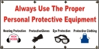 Use Protective equipment Banner