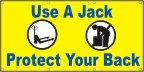 Use a Jack, Protect Your Back Banner