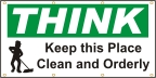 THINK - Keep This Place Clean Banner