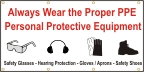 Always Wear PPE Banner