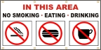 No Smoking, Eating, Drinking Banner