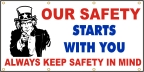 Safety Starts With You Banner