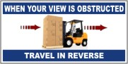 When Your View Is Obstructed, Travel In Reverse Banner