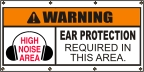 Warning Ear Protection Required Banner