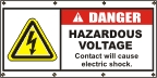Danger Hazardous Voltage Banner