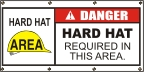 Danger Hard Hat Required Banner