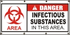 Danger Infectious Substances Banner