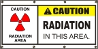 Caution Radiation Area Banner