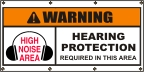 Hearing Protection Required Banner