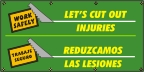 Spanish Let's Cut Out Injuries Banner