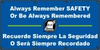 Spanish - Always Remember Safety Banner