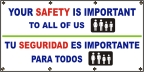 Spanish - Your Safety Is Important Banner