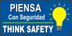 Spanish - Think Safety (bulb) Banner