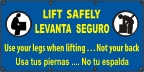 Spanish - Lift Safely Banner