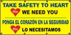 Spanish - Take Safety To Heart Banner