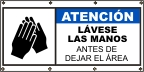 Spanish - Wash Hands Banner