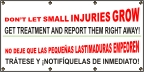 Spanish - Don't Let Small Injuries Grow Banner