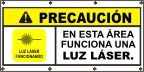 Spanish - Caution Laser Light Banner