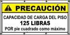 Spanish - Caution Safe Floor Load Limit