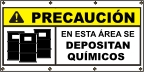 Spanish - Caution Chemical Storage Banner