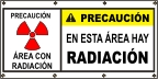 Spanish - Caution Radiation Area Banner