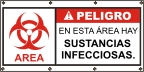 Spanish - Danger Infectious Substances Banner