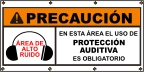 Spanish - Caution Hearing Protection Required