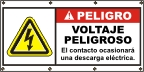 Spanish - Danger High Voltage Banner