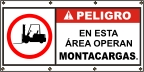 Spanish - Danger Fork Lift Area Banner