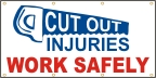 Cutout Injuries Work Safely Banner