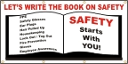 Let's Write the Book On Safety Banner