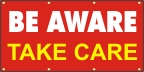 Be Aware, Take Care Banner