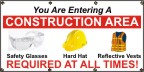 You Are Entering A Construction Area Banner