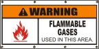 Warning Flammable Gases Banner