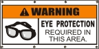 Warning Eye Protection Required Banner