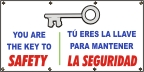 Spanish You Are the Ket To Safety Banner