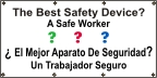 Spanish The Best Safety Device Banner