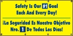 Spanish - Safety Is Our #1 Goal Banner