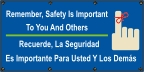 Spanish - Remember Safety Is Important Banner
