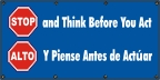 Spanish - Stop And Think Banner